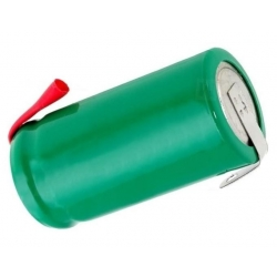 Batería NI-MH Recargable 1.2v.600mAh especial 2/3 AA con lengueta