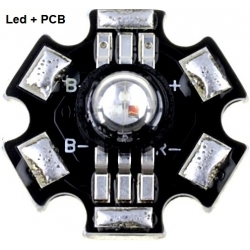 Led RGB Prolight 1w 6 pin+Pcb