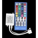 Controlador PWM IR RGB+W 12-24v.8A.40 teclas