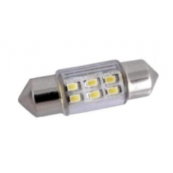 Festoon 6 LED SMD 12v 36mm con tubo