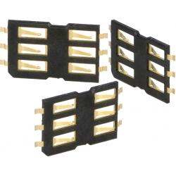 Conectores SIM de memorias 115E 6 pin