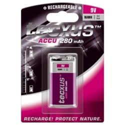 Batería NI-MH Recargable 6F22 de 9v. 280mA