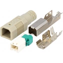 Conector USB B-Macho Aereo 4 pin