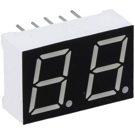 Display 2 digitos 7 segmentos Anodo Comun