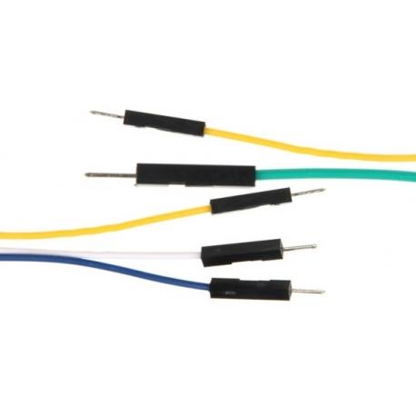 Conector cableado Dupont paso 2.54mm Macho-Macho 1pin