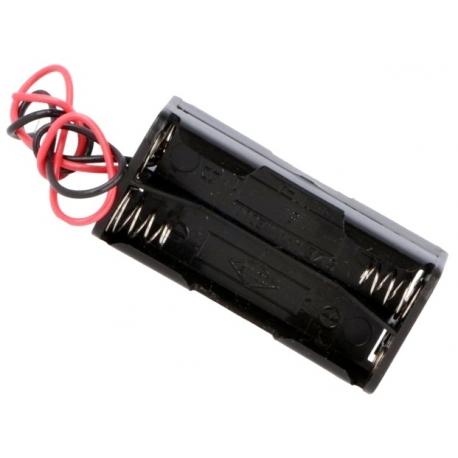 Portapilas baterías 2+2, 4 x AAA, LR03, R3, 10440