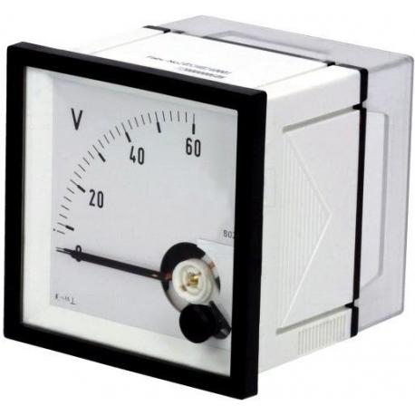 Medidor de panel de voltaje 60v