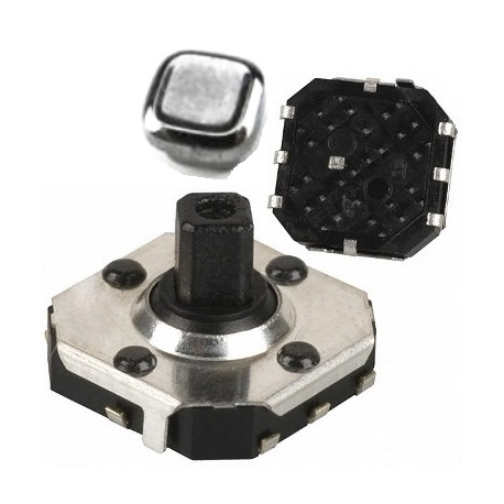 Mcro Joystick Switch SMD de 7.5x7.5mm con boton