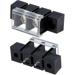 Bornas de Tornillos 10mm 10A Negras con Tapa