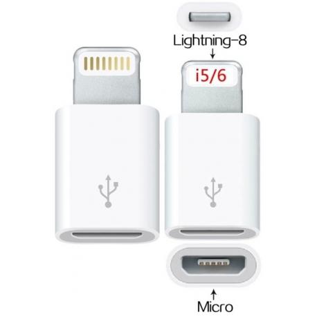 Adaptador Micro USB a Apple Lightning