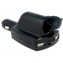 Cargador Mechero Micro USB de 2xUSB-A 12/24v-5v