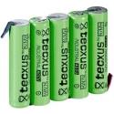 Batería NI-MH TECXUS Recargable AAA de 1.2v. con lengueta