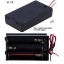 Porta Baterías y Pilas con tapa 3xAAA, LR03, R3, 10440