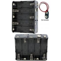 Portapilas baterías 10 x AA, LR06, 14500 tipo 5x5