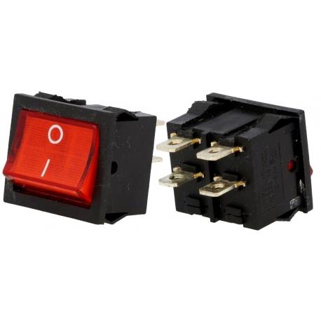Interruptor Rocker con Neon basculante 22x19.50x16mm