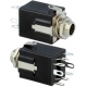 Conectores Jack audio hembra 6.3mm Stereo doble switch