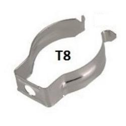 Clip de anclajes reforzado para Tubos T8