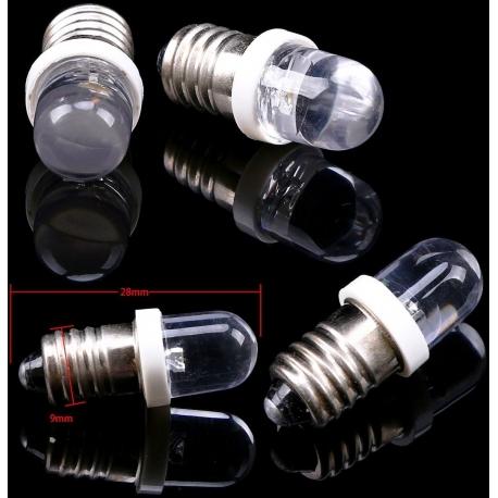 Bombilla LED E10 1 Led Redondo 12v Blanco