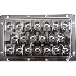 Lente Multi-Led 153x94x10.5mm 65ºx130º para 20 Led CREE-XRC/E o Lumiled