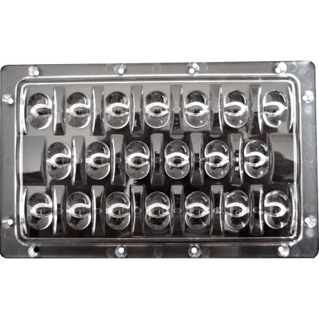 Lente Multi-Led 153x94x10.5mm para 20 Led