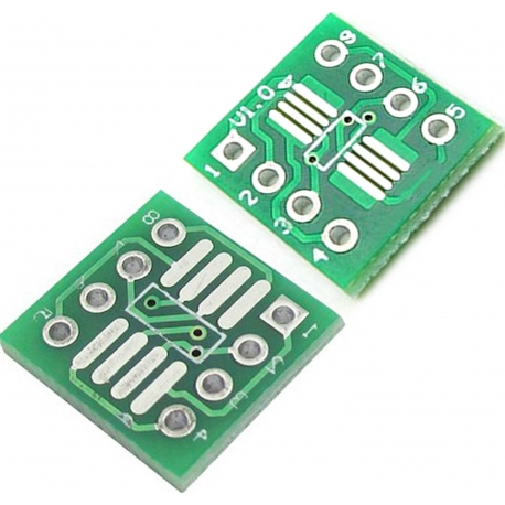 Pcb adaptador SOP8 SO8 SOIC8 SMD a DIP8
