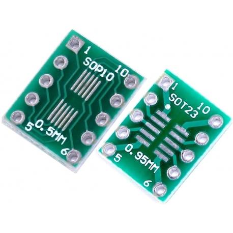Pcb adaptador SMD So10-SoP10-MSop10 a Dip10