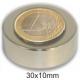 Imanes redondo de Neodimio 30x10mm