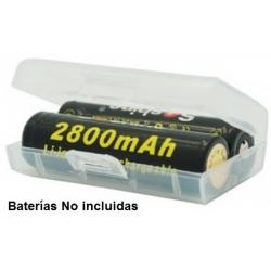 Estuche de protección de Baterías 2x18500-17670, 4 CR123 Soshine