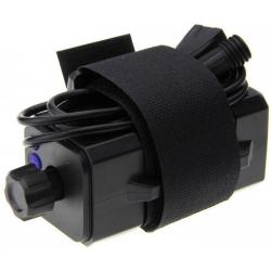 Porta-baterías 4x18650 con cables USB