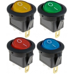Interruptor basculante (Rocker) 23x20mm con Led 12v