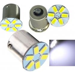 LED G18 6 Led 12v 1156 BA15S 1 contacto