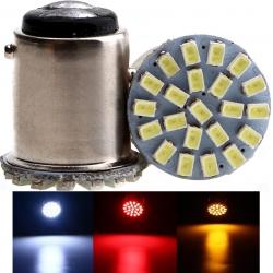 LED G18 22 Led 1206 12v 1157 BAY15D 2 contactos
