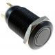 Pulsador de panel Antivandalos Aluminio Negro 16mm Led 12v