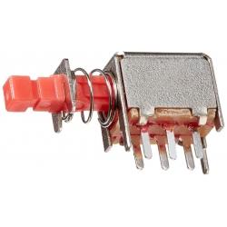 Interruptor pulsador de vastago con enclavamiento