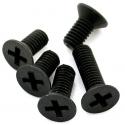 Micro Tornillos M1.8 en Negro Acero al carbono