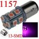 Bombilla LED 1157-P21-5w 13 led Rosa