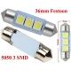 Festoon 3 LED 5050 de 36mm