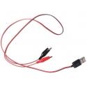 Conector cableado USB Macho a cocodrilo
