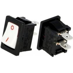 Interruptor Rocker 1366A 2 posiciones frontal Blanco
