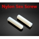 Espárrago allen Nylon M5 con extremo biselado hueco