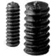 Prisioneros Espárrago allen Nylon M3 Negro con extremo biselado hueco