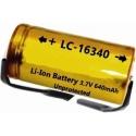 Batería de Lítio 16340 3.7v 640mA para PCB