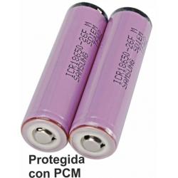 Bateria Litio Samsung ICR18650-26F 2.6A Protegida