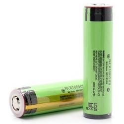 Baterías Panasonic de Litio NCR18650B de 3.400mAh 3.6v