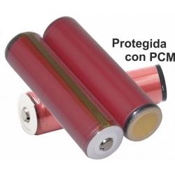 Bateria Litio Sanyo UR18650RX 3.7v 2.100mA protegida
