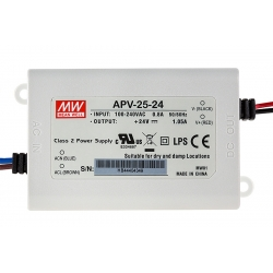 Mini Fuentes APV25-24 Mean-well para Led