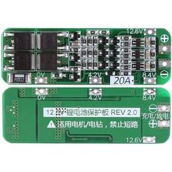 PCM 3S para Baterías de Litio 11.1v. 20A Ver.2.0