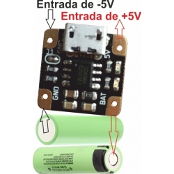 Cargador de Litio MINI-USB- 5 a 3.7v. 4056