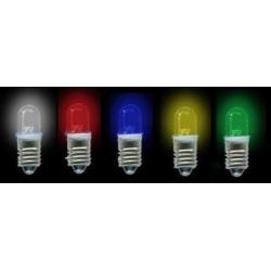 Bombilla LED E10 1 Led Redondo 8mm 24v