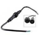 Juego Conector IP65 23mm Negro 4pin con cable
